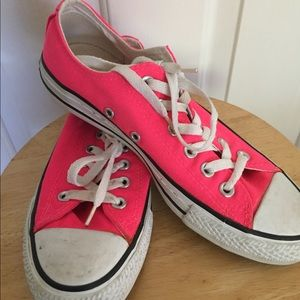 Hot Pink Low Top Converse